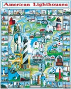 """American Lighthouses - Jigsaw Puzzle By The Sea  1000 Pieces 24""""X30"""""""