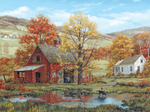 "Friends in Autumn - Jigsaw Puzzle Fred Swan 1000 Pieces 24""X30"""