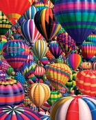 """Hot Air Balloons - Jigsaw Puzzle 1000 Pieces 24""""X30"""""""