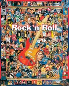 """Rock 'n' Roll - Jigsaw Puzzle Ultimate Trivia 1000 Pieces 24""""X30"""""""