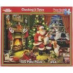 "Checking It Twice - Santa - Jigsaw Puzzle 1000 Pieces 24""X30"""
