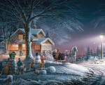 "Winter Wonderland - Jigsaw Puzzle Terry Redlin 1000 Pieces 24""X30"""
