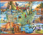 "National Parks - Jigsaw Puzzle 1000 Pieces 24""X30"""