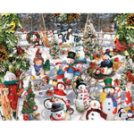 "Snowmen - Jigsaw Puzzle 1000 Pieces 24""X30"""