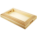 Paintable Wooden Trays W/Handles 5 Piece Set