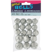 Silver Assorted - Glitter Jingle Bells 18/Pkg