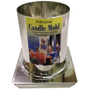 """Round 3""""X4"""" - Professional Metal Candle Mold"""