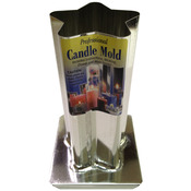 5 Point Rounded Star Professional Metal Candle Mold - Yaley