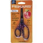 """Assorted Designs - Designer Non-Stick Blunt-Tip Kids Scissors 5"""""""