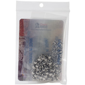 "Nickel Plated - Neat Mini Double Cap Rivets .1875"" 100/Pkg"