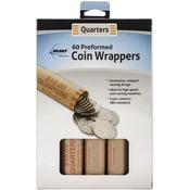 Quarter - Nested Preformed Coin Wrappers 60/Pkg
