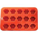"""9""""X5.5"""" 15 Cavity (1.5""""X.5"""") - Mini Paw Silicone Cake Pan"""