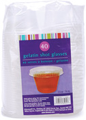Clear - Plastic Gelatin Shot Glasses W/Lids 2.5oz 40/Pkg