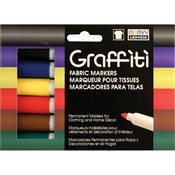 Primary - Graffiti Fabric Marker 6/Pkg