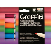 Floral - Graffiti Fabric Marker 6/Pkg