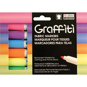 Fluorescent - Graffiti Fabric Marker 6/Pkg