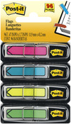 "Assorted Neon Colors - Post-It Arrow Flags .47""X1.7"" 96/Pkg"