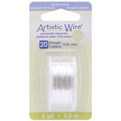 Silver,20 Gauge,6 Yards/Pkg - Artistic Wire Dispenser