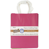 "Assorted Brights - Paper Bags 4.25""X8""X10.25"" 13/Pkg"
