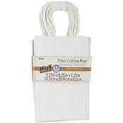 "White - Paper Bags 3.25""X5.25""X8.375"" 13/Pkg"