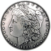 "Morgan Dollar Heads - Concho 1.375"" Antique Silver 1/Pkg"