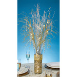 """Battery Operated - LED Lighted Gold Branch Spray 30"""""""