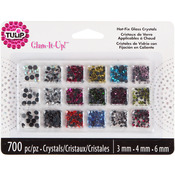 Assorted Colors - Tulip Glam-It-Up! HotFix Glass Crystals 700/Pkg