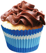Blue Swirls 24/Pkg - Jumbo Baking Cups