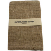 "Natural - Burlap Runner 14""X72"""
