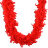 Red - Chandelle Feather Boa 72 inches MIDWEST DESIGN-Chandelle Feather Boa.  Ideal for embellishing formal wear, lingerie, handbags, shoes, plush animals and dolls. Add to Christmas ornaments for a Victorian look use for wedding prom or costumes.  Great quality, soft and light.  These boas are available in a variety of beautiful colors.   Each package contains one 2yd boa.   Imported.