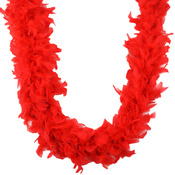 Red - Chandelle Feather Boa 72""