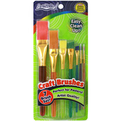 Assorted Sizes From Detail To Broad - Craft Brushes 7/Pkg