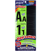 "1"" & 2"", W/Science Tiles - Vinyl Letters & Numbers Repositionable 214/Pkg"