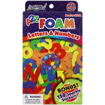 Peel - N - Stick Foam Letters & Numbers 228/Pkg - W/150 Sparkly Stickers