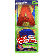 Quick Letter & Number Pads Repositionable 108/Pkg - Holographic Sparkle Jumbo 4""