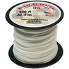 White - Parachute Cord 1.9mm 100'/Pkg PEPPERELL-Parachute Cord 95. Use this cord for starting out a fun and new project using your favorite colors of cord! The cord is made of braided nylon and each strand measures about 2mm thick. The soft braided outer shell is durable, yet cushions, allowing this cord to be flexible, yet comfortable enough to wear against the skin. This package contains one 100ft roll of parachute cord. Available in a variety of colors, each sold separately. Made in USA.
