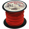 Red - Parachute Cord 1.9mm 100'/Pkg PEPPERELL-Parachute Cord 95. Use this cord for starting out a fun and new project using your favorite colors of cord! The cord is made of braided nylon and each strand measures about 2mm thick. The soft braided outer shell is durable, yet cushions, allowing this cord to be flexible, yet comfortable enough to wear against the skin. This package contains one 100ft roll of parachute cord. Available in a variety of colors, each sold separately. Made in USA.