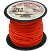 Neon Orange - Parachute Cord 1.9mm 100'/Pkg PEPPERELL-Parachute Cord 95. Use this cord for starting out a fun and new project using your favorite colors of cord! The cord is made of braided nylon and each strand measures about 2mm thick. The soft braided outer shell is durable, yet cushions, allowing this cord to be flexible, yet comfortable enough to wear against the skin. This package contains one 100ft roll of parachute cord. Available in a variety of colors, each sold separately. Made in USA.