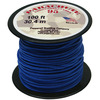 Royal - Parachute Cord 1.9mm 100'/Pkg PEPPERELL-Parachute Cord 95. Use this cord for starting out a fun and new project using your favorite colors of cord! The cord is made of braided nylon and each strand measures about 2mm thick. The soft braided outer shell is durable, yet cushions, allowing this cord to be flexible, yet comfortable enough to wear against the skin. This package contains one 100ft roll of parachute cord. Available in a variety of colors, each sold separately. Made in USA.