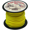 Yellow - Parachute Cord 1.9mm 100'/Pkg PEPPERELL-Parachute Cord 95. Use this cord for starting out a fun and new project using your favorite colors of cord! The cord is made of braided nylon and each strand measures about 2mm thick. The soft braided outer shell is durable, yet cushions, allowing this cord to be flexible, yet comfortable enough to wear against the skin. This package contains one 100ft roll of parachute cord. Available in a variety of colors, each sold separately. Made in USA.