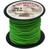 Neon Green - Parachute Cord 1.9mm 100'/Pkg PEPPERELL-Parachute Cord 95. Use this cord for starting out a fun and new project using your favorite colors of cord! The cord is made of braided nylon and each strand measures about 2mm thick. The soft braided outer shell is durable, yet cushions, allowing this cord to be flexible, yet comfortable enough to wear against the skin. This package contains one 100ft roll of parachute cord. Available in a variety of colors, each sold separately. Made in USA.