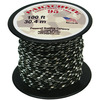 Army Camouflage - Parachute Cord 1.9mm 100'/Pkg PEPPERELL-Parachute Cord 95. Use this cord for starting out a fun and new project using your favorite colors of cord! The cord is made of braided nylon and each strand measures about 2mm thick. The soft braided outer shell is durable, yet cushions, allowing this cord to be flexible, yet comfortable enough to wear against the skin. This package contains one 100ft roll of parachute cord. Available in a variety of colors, each sold separately. Made in USA.