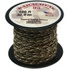 Desert Camouflage - Parachute Cord 1.9mm 100'/Pkg PEPPERELL-Parachute Cord 95. Use this cord for starting out a fun and new project using your favorite colors of cord! The cord is made of braided nylon and each strand measures about 2mm thick. The soft braided outer shell is durable, yet cushions, allowing this cord to be flexible, yet comfortable enough to wear against the skin. This package contains one 100ft roll of parachute cord. Available in a variety of colors, each sold separately. Made in USA.