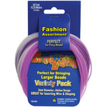 Pastel Colors - Pony Bead Lacing Variety Pack 60'/Pkg