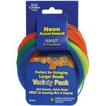 Neon Colors - Pony Bead Lacing Variety Pack 60'/Pkg