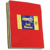 "Assorted Colors - Pound Of Felt Assortment 9""X12"" 42 Sheets/Pkg"