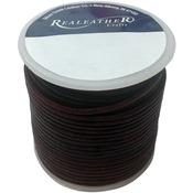 Mahagony - Round Leather Lace 2mm 25yd Spool
