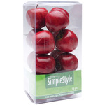 Mini Red Apples - Design It Simple Decorative Fruit 15/Pkg