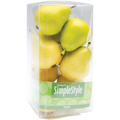 Yellow and Green Pears - Design It Simple Decorative Fruit 9/Pkg