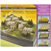 Mountain - Diorama Kit WOODLAND SCENICS-Diorama Kit: Mountain. This kit is great for making hills, mounds, cliffs, volcanos and other land contours. This package contains two side panels, 7.2 cubic inches of shrubs, 36 cubic inches of foliage fiber, one rock mold, 8 oz of casting plaster, 7.2 cubic inches of green grass, 3/6 cubic inches of evergreen accent, 1.8 cubic inches of forest green accent, one foam brush, one stir stick, one set of instructions, one volcano tube, one spray bottle, one bottle of 1 fl oz project glue, 0.5 fl oz of Earth undercoat, one 7 ft plaster cloth, one plastic cup and sifter lid, one mixing tray, one 3.6 cubic inches of talus, and three 0.16 fl oz of rock colors. For 7 years and up. WARNING: Sharp objects! Choking hazard! Small parts. Not intended for children under 3 years. Adult supervision required. Made in USA.